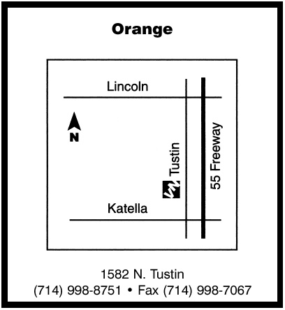 map of orange