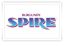 burgundy spire logo